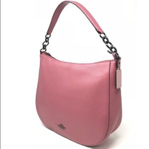 Coach F58036 Pebble Chelsea Hobo Leather Bag Rouge